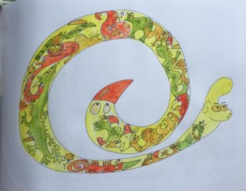 Yellow snake.LJS